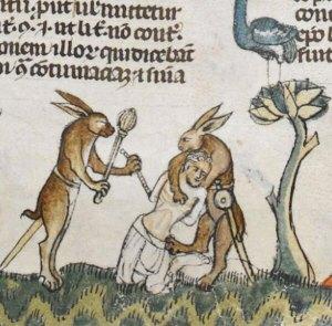 Violent medieval rabbits