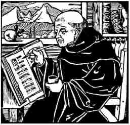 Medieval-monk-writing